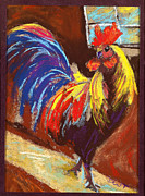 Fanciful Pastels Metal Prints - Rooster b Metal Print by Diana Tripp