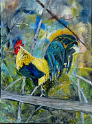 Farm Life Framed Prints Prints - Rooster Business Print by Robyn Webber