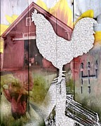Sharon Marcella Marston - Rooster collage