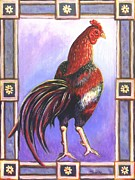 Chickens Paintings - Rooster Prince by Linda Mears