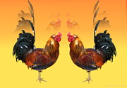Joyce Dickens - Rooster Standoff Two