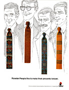 Nineteen Sixties Prints - Rooster Ties 1960s Usa Mens Ties Print by The Advertising Archives