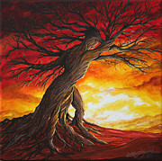 Tree Roots Painting Posters - Root Bound Poster by Colleen Murphy