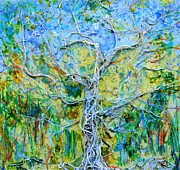 Tree Roots Paintings - Rooted by Regina Valluzzi