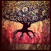 Tree Roots Painting Posters - Roots and Buds Poster by Ericka Adabashi