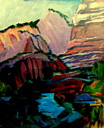 Zion National Park Painting Prints - Roots and Rock of Zion Print by Betty Pieper
