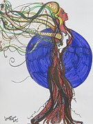 Independence Drawings Prints - Roots of Freedom Print by Susanne Fisher