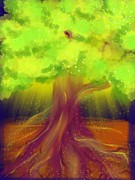 Tree Roots Digital Art Posters - Roots Poster by Raena Wilson