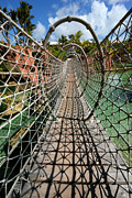 Instability Framed Prints - Rope Bridge Atlantis Resort Framed Print by Amy Cicconi