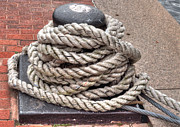 Frigates Photos - Rope Coil 1 by Deborah Smolinske