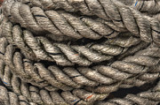 Frigates Photos - Rope Coils by Deborah Smolinske