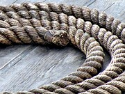 Textile Photographs Photos - Rope by Janice Drew