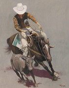 Cal Prints - Roper Salinas Rodeo Print by Terry Guyer