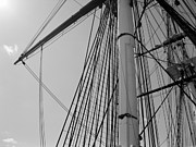 Old Ironsides Prints - Ropes Print by Kenny Glotfelty