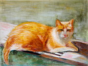 Painter Pastels Prints - Rory Print by Barbara Lynn Dunn