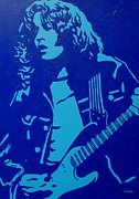 Musician Greeting Cards Paintings - Rory Gallagher by John  Nolan