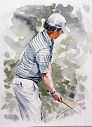 Fed Cup Prints - Rory McIlroy 001 Watercolour Print by Mark Robinson