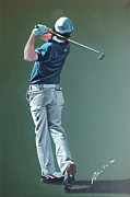Pga European Tour Prints - Rory McIlroy DWC 2011 by Mark Robinson Print by Mark Robinson