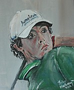 Us Open Painting Posters - Rory McIlroy Poster by John Halliday