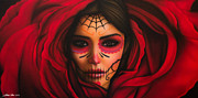 Makeup Painting Originals - Rosa by Daniel Rivera