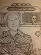 Barack Obama Drawings Metal Prints - Rosa Parks Imagined Progress Metal Print by Irving Starr