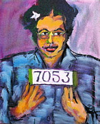 Black History Paintings - Rosa Parks by Les Leffingwell