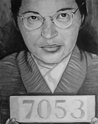 Rosa Parks Print by Simon Kregar