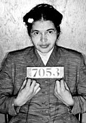 Arrest Photo Prints - Rosa Parks Print by Unknown