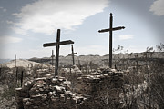 The Wooden Cross Photo Prints - Rosary For The Dead Print by April Davis