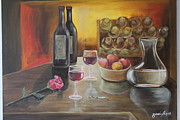 Gani Banacia Prints - Rose and Wine Print by Gani Banacia