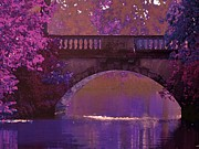 Maureen Digital Art - Rose Bridge at Evening by Maureen Tillman