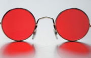 Glasses Photo Metal Prints - Rose Colored Glasses Metal Print by Dan Holm