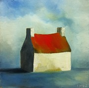 Red Roof Prints - Rose Cottage An Irish Home Print by Padraig McCaul