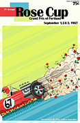 Rally Posters - Rose Cup Grand Prix Portland 1967 Poster by Nomad Art And  Design