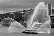 Fireboat Photos - Rose Festival Fire Boat by Wes and Dotty Weber