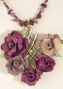 Polymer Jewelry - Rose Garden Necklace by P Russell