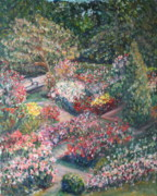 Quin Sweetman Paintings - Rose Garden by Quin Sweetman