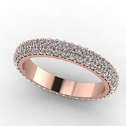 Platinum Jewelry - Rose Gold Diamond Eternity Band by Eternity Collection