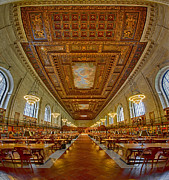 Rose Main Reading Room Prints - Rose Main Reading Room At The NYPL Print by Susan Candelario