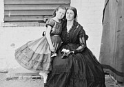 Oneal Posters - Rose ONeal Grenhow Confederate  Spy with Daughter in Capitol Prison 1861 Poster by David Call