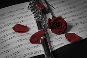 Flutes Photos - Rose Petal Music by Amber Kresge
