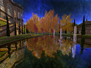 Mansion Digital Art - Rose Pond in Autumn by Kylie Sabra