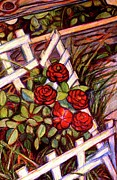 Original Oil Pastels - Rose Start by Kendall Kessler