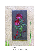 Leaf Reliefs - Rose Wall Tile by Karl Sanders