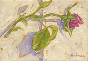 Rosebud Paintings - Rosebud by Catherine Martha Holmes