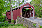 Log Cabin Photographs Prints - Rosehill Covered Bridge Print by Guy Whiteley