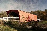 Covered Bridge Mixed Media Prints - Roseman Bridge 2 Print by Vicki McLead