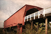 Covered Bridge Mixed Media Prints - Roseman Bridge 3 Print by Vicki McLead