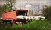 Covered Bridge Mixed Media Prints - Roseman Bridge Print by Vicki McLead