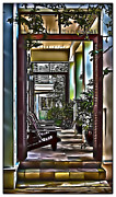 Porch Framed Prints - Rosemarys Side Porch Framed Print by Walt Foegelle